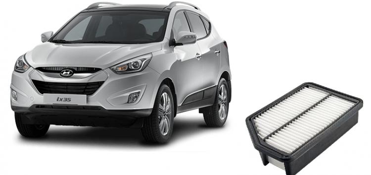 Заміна повітряного фільтра Hyundai/Kia 28113 2S000 на Hyundai ix 35 (відео)