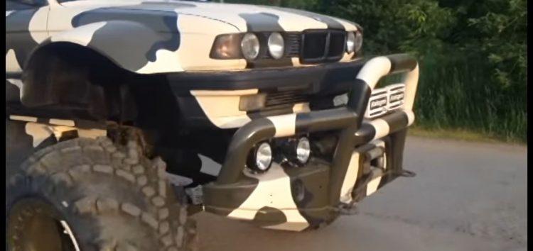 Старий BMW перетворили в позашляховик (відео)