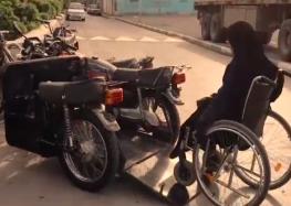 Іранка-інвалид сама зробила собі мотоцикл (відео)
