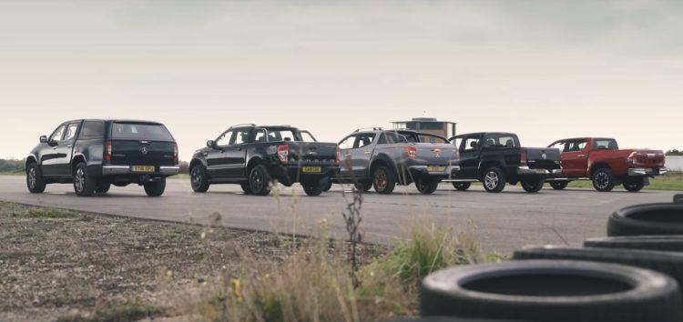 П'ять пікапів порівняли в дрег-гонці (відео)