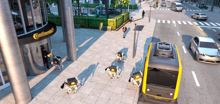 Continental доставлятиме товари собаками