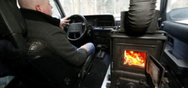 Автомобіль з пічкою всередині (відео)