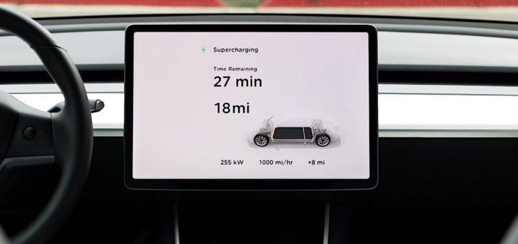 Tesla демонструє швидку зарядку V3 Supercharging (відео)