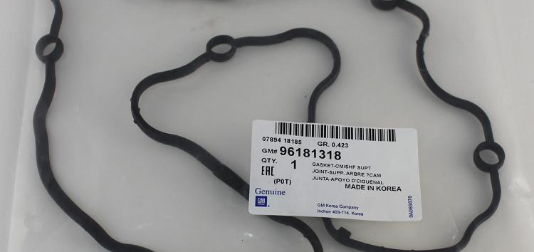 Підробні автозапчастини: Прокладка клапанної кришки General Motors 96181318