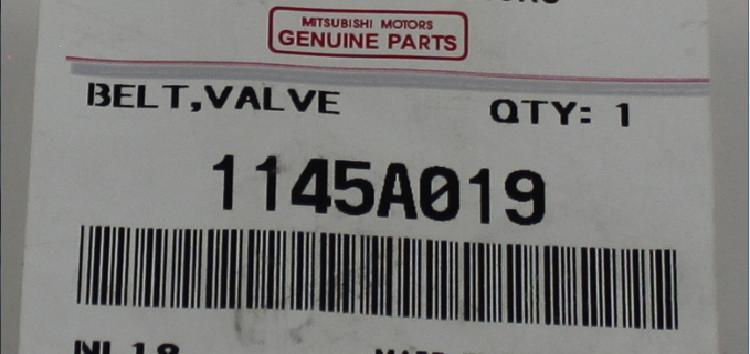 Підробні автозапчастини: ремінь ГРМ  Mitsubishi 1145A019