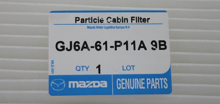 Підробні автозапчастини: фільтр салону Mazda GJ6A-61-P11A9B