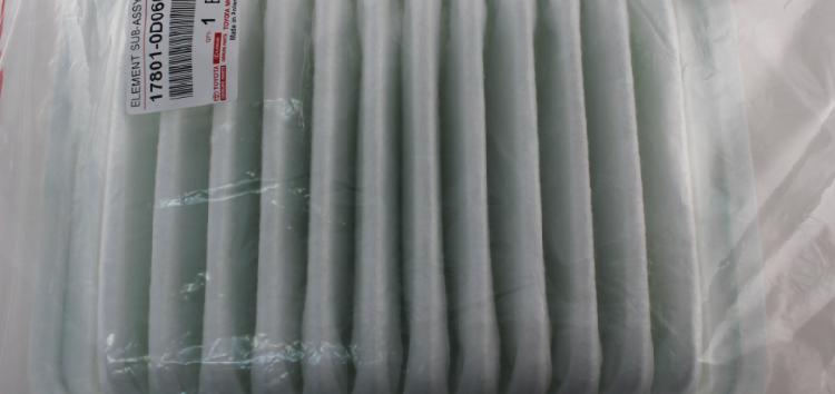 Підробні автозапчастини: повітряний фільтр Toyota 17801-0D060