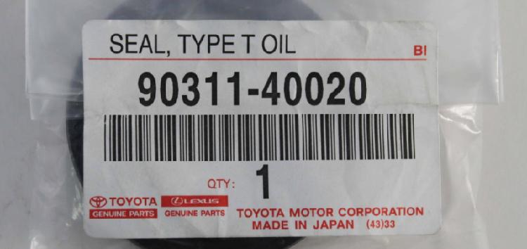 Підробні автозапчастини: сальник Toyota  90311-40020