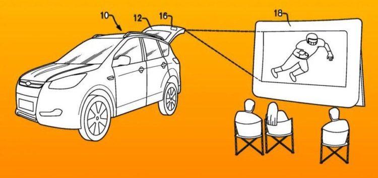 Ford патентує кінотеатр в багажнику