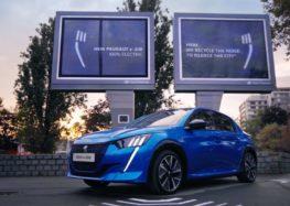 Peugeot зарядить електрокари від шуму (відео)