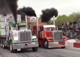 Перегони 45-тонних тягачів (відео)