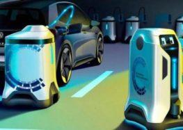 Volkswagen создал роботизированные зарядные устройства
