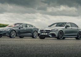 Гонка Tesla против Mercedes (видео)