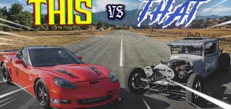 Майже сторічний Dodge виставили проти Corvette Z06 (відео)