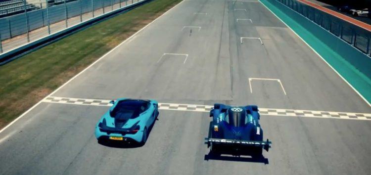 Електричний Volkswagen ID.R vs суперкар McLaren 720s (відео)