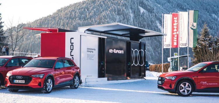 Audi предлагает контейнерную зарядку электромобилей