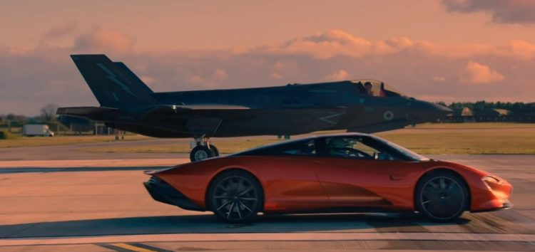 McLaren Speedtail проти винищувача F-35 (відео)