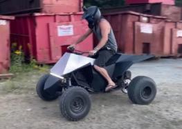 Самодельный квадроцикл Tesla Cyberquad (видео)