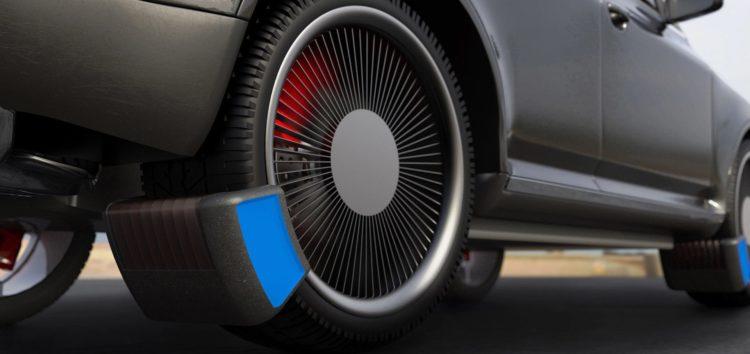 Пристрій для збору відходів шин на ходу