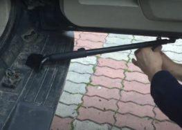 Замена газовой пружины багажника Mitsubishi 5822A020 на Mitsubishi Pajero Wagon (видео)