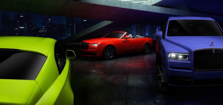 Rolls-Royce представив автомобілі у неонових кольорах