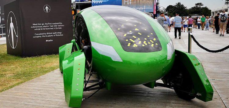 По Лондону їздять зелені дрони