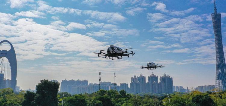 Аеротаксі EHang почало проводити тести з туристами (відео)