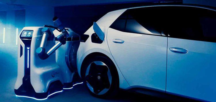 Volkswagen представила прототипи своїх роботів для зарядки електромобілів