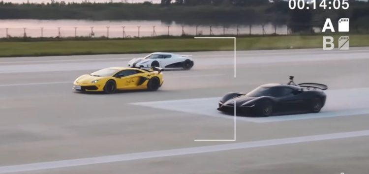Хто знімав драг-рейсинг між Lamborghini Aventador і Koenigsegg Agera? (відео)