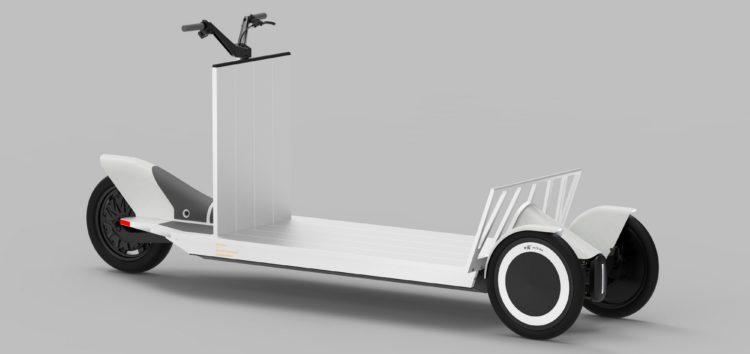 Polestar представив триколісний електросамокат для перевезення вантажів