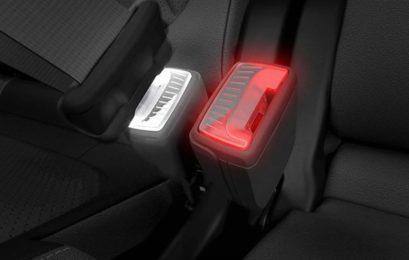 Skoda патентує пряжку ременя безпеки, що світиться