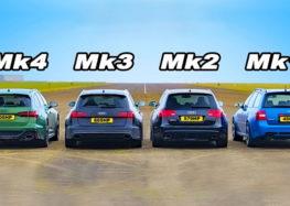 Audi порівняла чотири покоління RS6 на прямий (відео)
