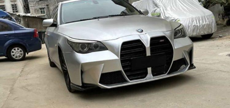 """Старенька BMW 5-Series отримала бампер з величезними """"ніздрями"""""""