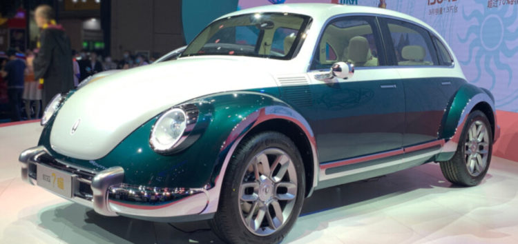 Китайці показали свою версію електричного Volkswagen Beetle
