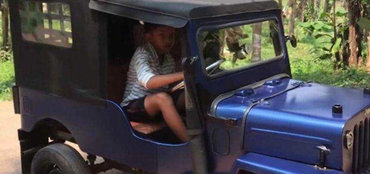 Індійський хлопчик зробив електричний позашляховик