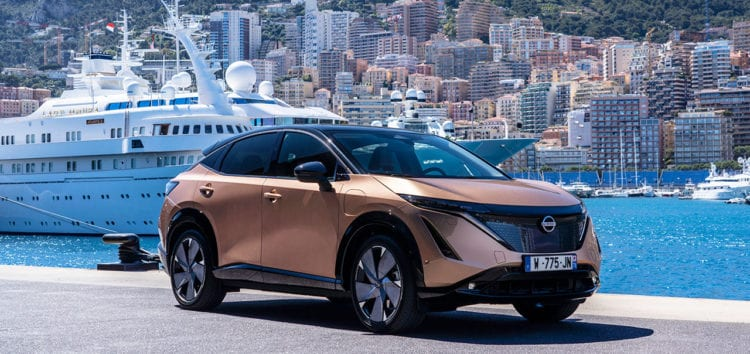 Nissan Ariya тестують на дорогах Монте-Карло