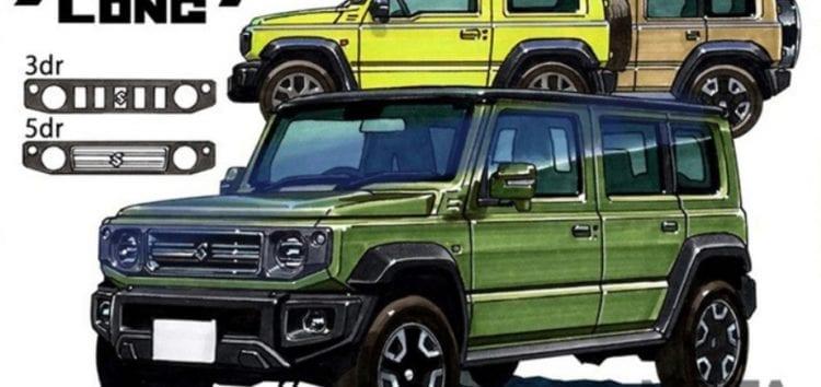 Відомо подробиці стосовно п'ятидверного Suzuki Jimny