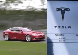 Нова Tesla поставила швидкісний рекорд